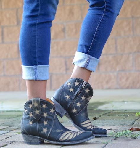 Old Gringo United Short Rustic Beige Boots BL2976-2 Zipper