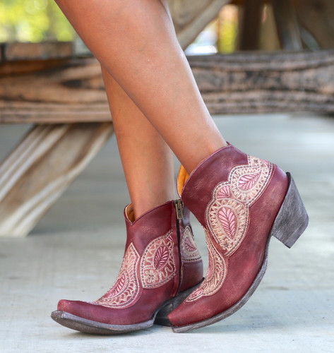 Old Gringo Bianca Wine Boots BL2978-1 Toe