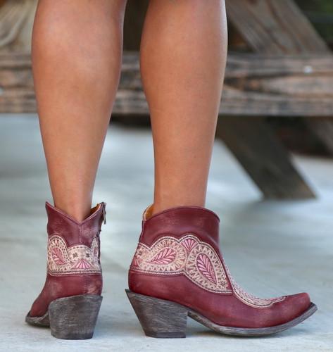 Old Gringo Bianca Wine Boots BL2978-1 Heel