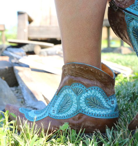 Old Gringo Bianca Brass Blue Boots BL2978-2 Embroidery