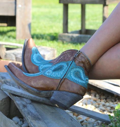 Old Gringo Bianca Brass Blue Boots BL2978-2 Zipper