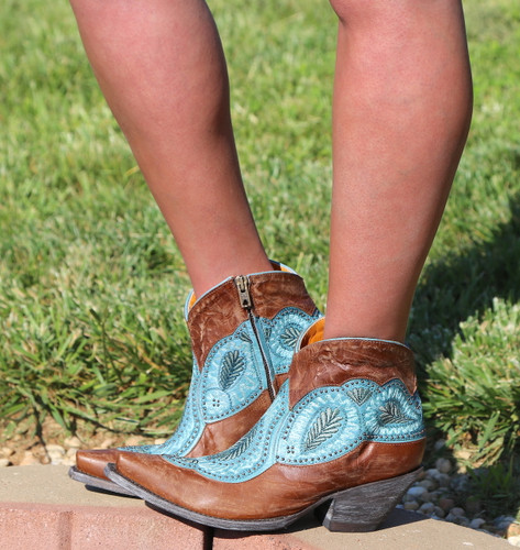 Old Gringo Bianca Brass Blue Boots BL2978-2 Image