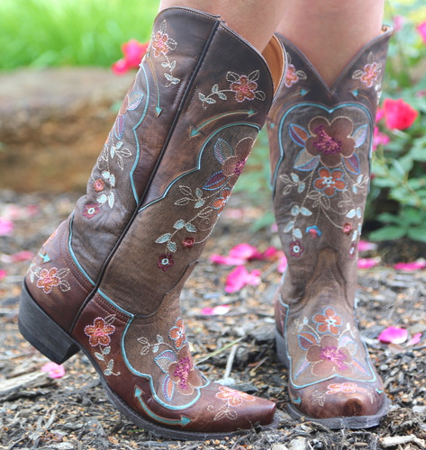 Old Gringo Bonnie Pippin Chocolate Boots L696-12 Toe