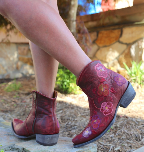 Old Gringo Pansy Short Red Boots BL2991-1 Heel