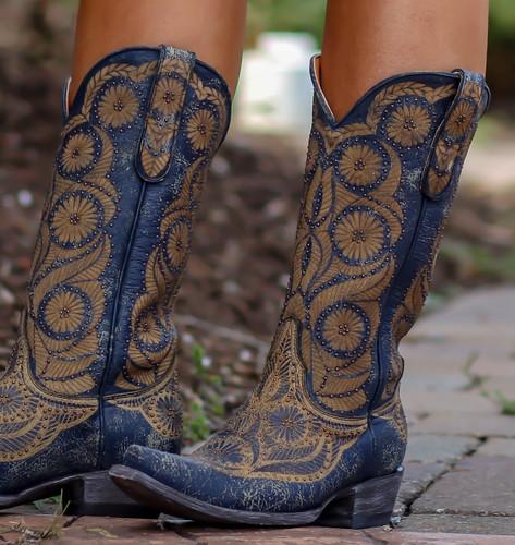 Old Gringo Valentine Blue Boots L2972-1 Detail