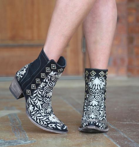 Old Gringo Wink Black Boots BL2985-1 Toe