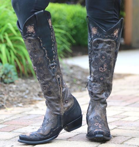Old Gringo Bonnie Mayra Brown Boots L2989-1 Zipper