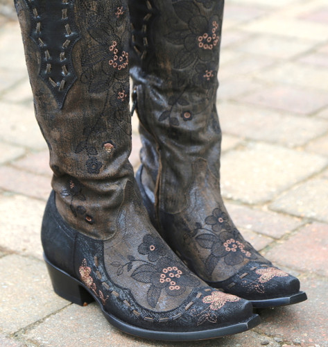 Old Gringo Bonnie Mayra Brown Boots L2989-1 Detail
