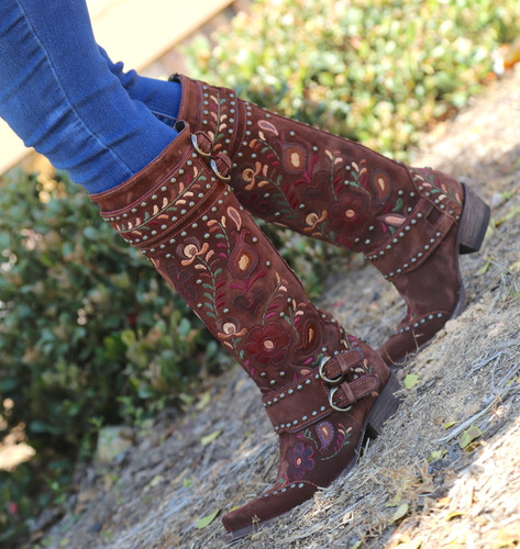 Double D by Old Gringo Travelers & Traders Brunette Boots DDL032-1 Walk