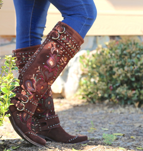 Double D by Old Gringo Travelers & Traders Brunette Boots DDL032-1 Image