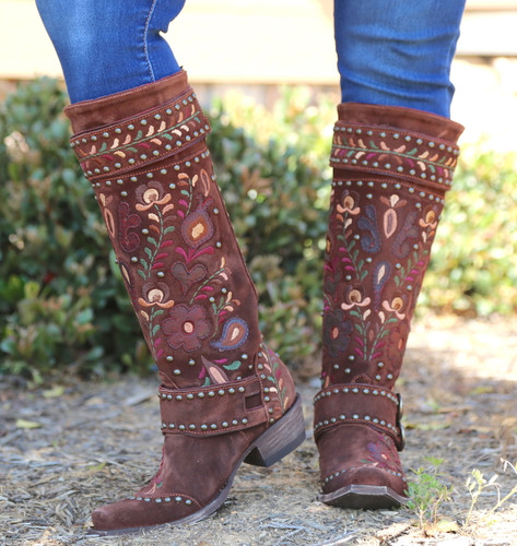 Double D by Old Gringo Travelers & Traders Brunette Boots DDL032-1 Photo