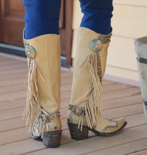 Double D by Old Gringo Rusty Ravine Bone Boots DDL017-3 Heel