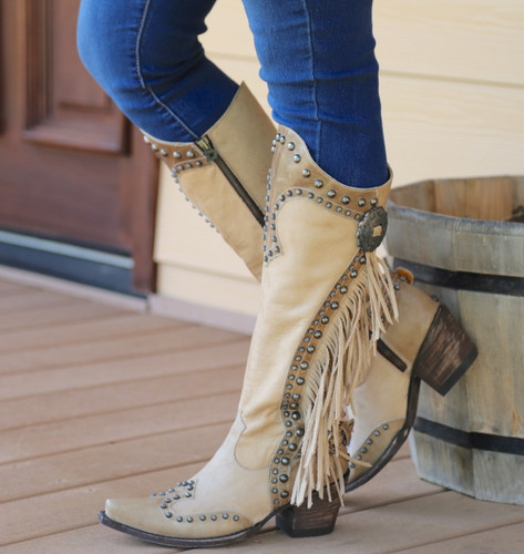Double D by Old Gringo Rusty Ravine Bone Boots DDL017-3 Picture