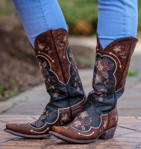 Old Gringo Bonnie Black Bone Boots L696-10 Image