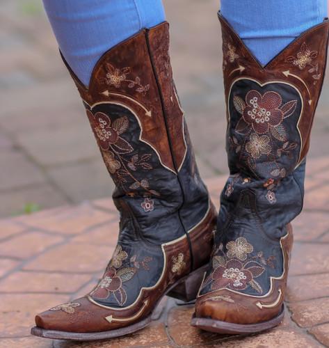 Old Gringo Bonnie Black Bone Boots L696-10 Photo