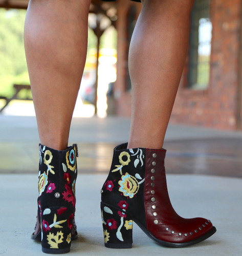 Double D by Old Gringo Granny Takes A Trip Red Boots DDBL023-1 Heel