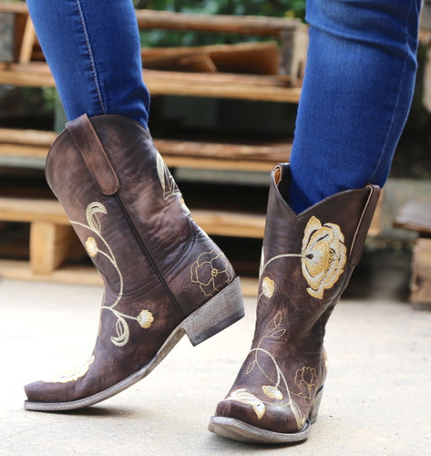 Old Gringo Marsha Chocolate Gold Boots L427-45 Photo