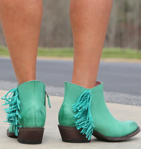 Miss Macie On The Fringe Turquoise Boots U7001-02 Picture
