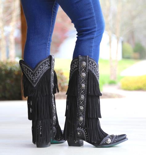 Lane Wind Walker Black Boots LB0378B Picture