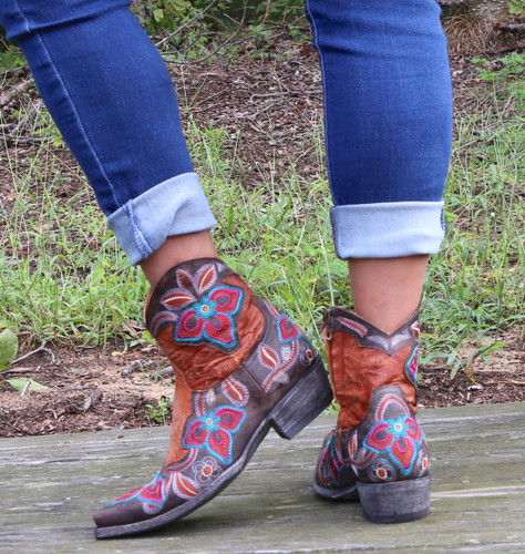 Old Gringo Marrione Zipper Mango Chocolate Boots L1036-8 Heel