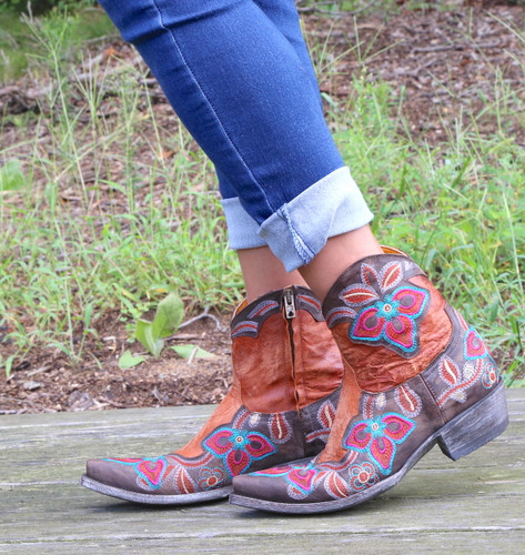 Old Gringo Marrione Zipper Mango Chocolate Boots L1036-8 Image