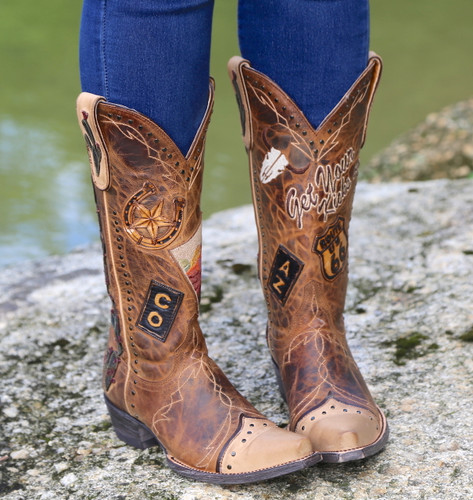 Old Gringo Route 66 Saddle Boots L3056-2 Image