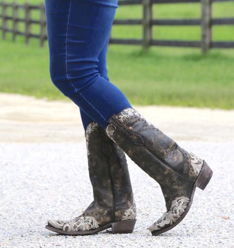 Old Gringo Erin Black Bone Boots L640-21 Picture