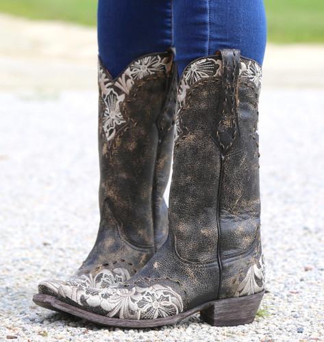 Old Gringo Erin Black Bone Boots L640-21 Image