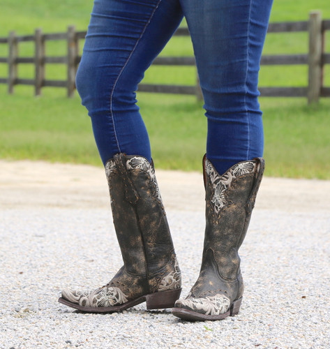 Old Gringo Erin Black Bone Boots L640-21 Photo