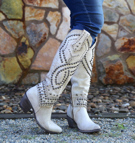 Old Gringo Belinda Milk Boots L903-32 Toe
