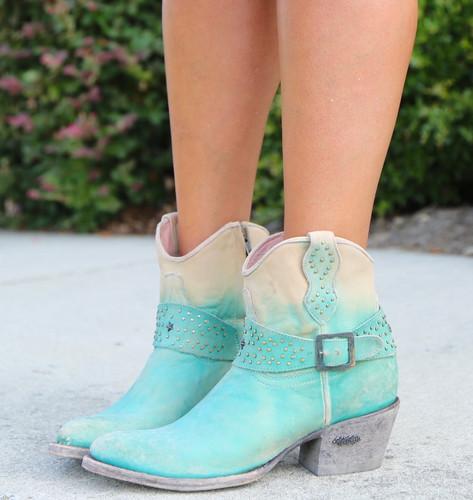 Miss Macie Fine-N-Dandy Turquoise Boots U8000-02 Image