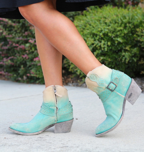 Miss Macie Fine-N-Dandy Turquoise Boots U8000-02 Walk