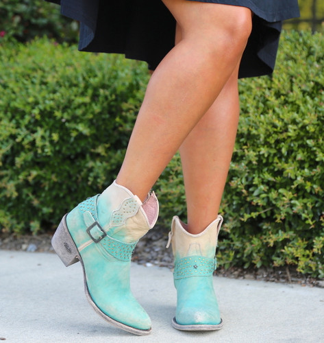 Miss Macie Fine-N-Dandy Turquoise Boots U8000-02 Toe