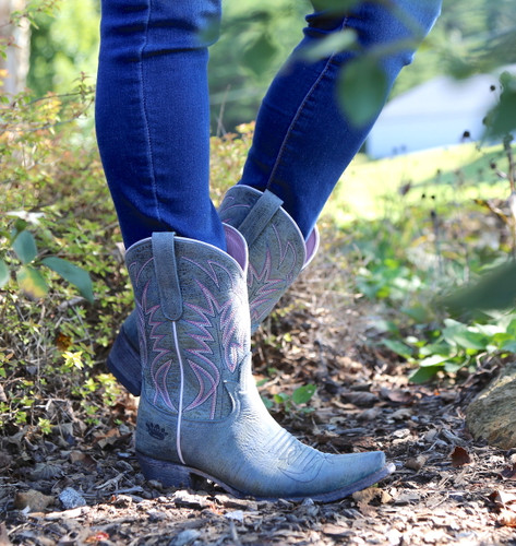 Junk Gypsy by Lane Dirt Road Dreamer Grey/Blue Boots JG0003G Picture