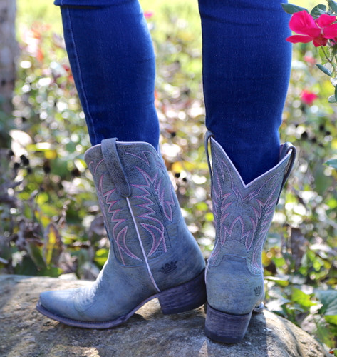 Junk Gypsy by Lane Dirt Road Dreamer Grey/Blue Boots JG0003G Heel