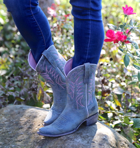 Junk Gypsy by Lane Dirt Road Dreamer Grey/Blue Boots JG0003G Side
