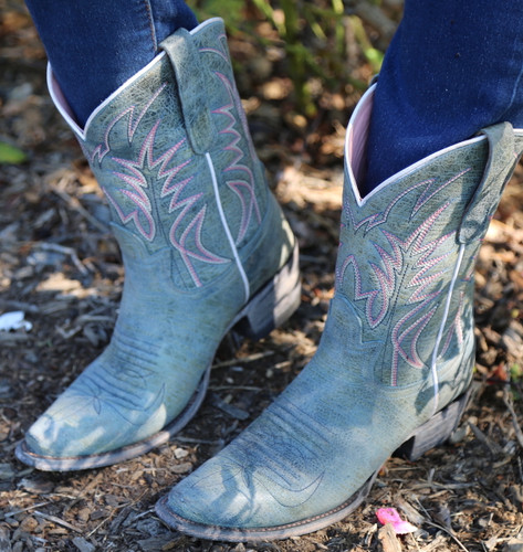 Junk Gypsy by Lane Dirt Road Dreamer Grey/Blue Boots JG0003G Photo