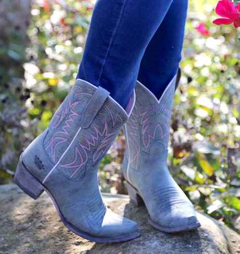 Junk Gypsy by Lane Dirt Road Dreamer Grey/Blue Boots JG0003G Toe