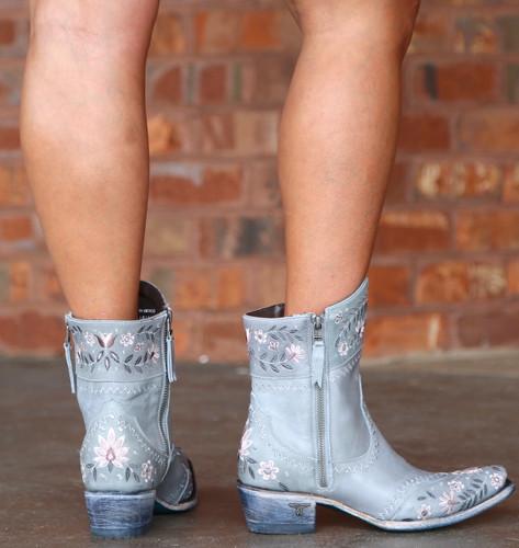 Lane Landrum Gardens Grey Boots LB0387B Heel