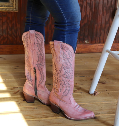 Corral Rose Embroidery Tall Top Boots E1447 Image
