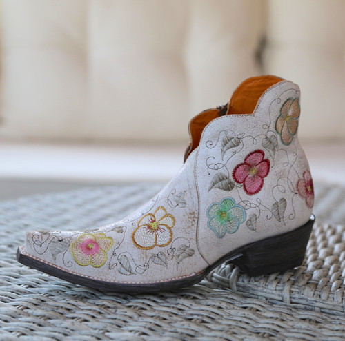 Old Gringo Pansy White Crackle Boot SHL2980-5 Image