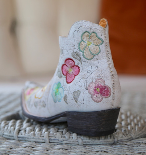 Old Gringo Pansy White Crackle Boot SHL2980-5 Heel