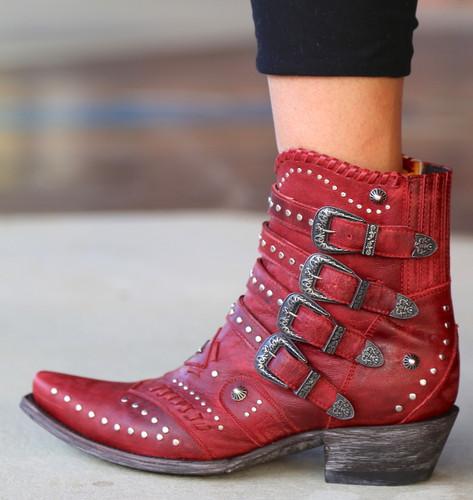 Old Gringo Jaylene Red Boots BL3099-2 Buckle