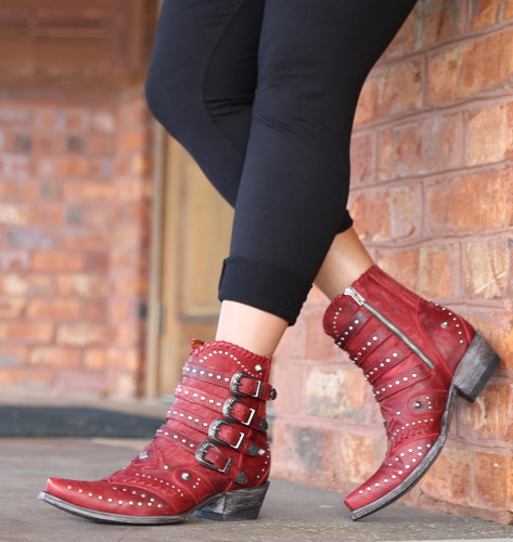 Old Gringo Jaylene Red Boots BL3099-2 Zipper