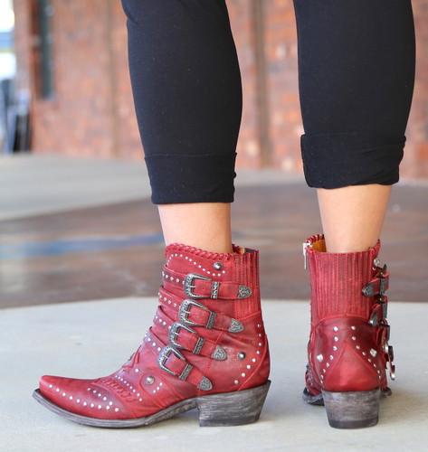 Old Gringo Jaylene Red Boots BL3099-2 Heel