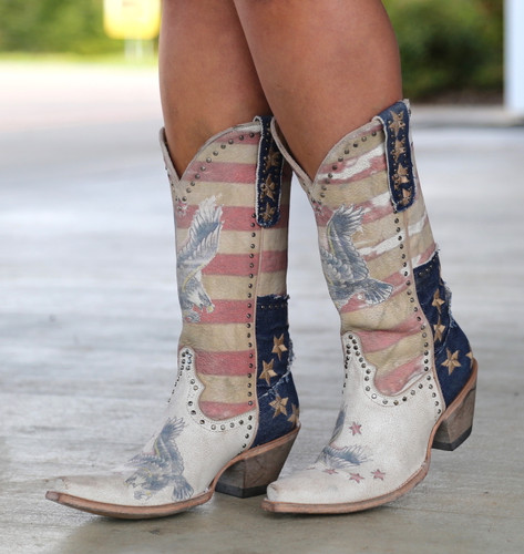 Yippee Ki Yay by Old Gringo Jorie Taupe Boots YL339-1 Image
