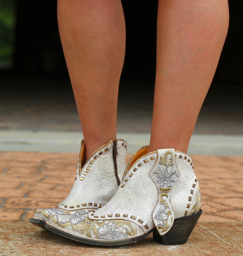 Old Gringo Erin Short White Boots BL3083-1 Picture