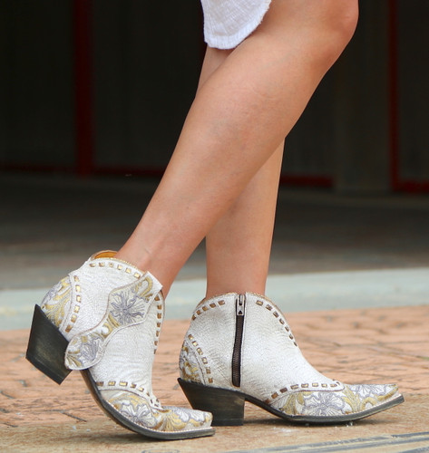 Old Gringo Erin Short White Boots BL3083-1 Image