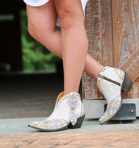 Old Gringo Erin Short White Boots BL3083-1 Zipper