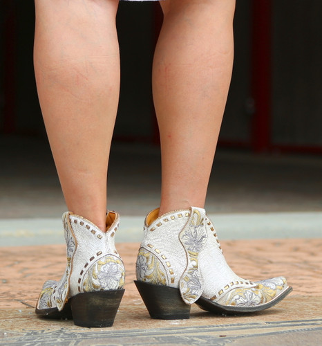 Old Gringo Erin Short White Boots BL3083-1 Heel